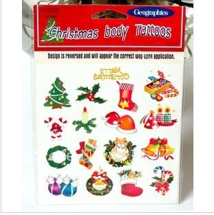 new 120pcs/ lot, Christmas tattoo stickers - for Body art Painting - mixed designs - Free Shipping