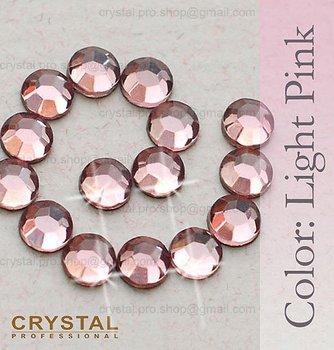 144 pcs ss10 Light Pink Rose 3mm bulk wholesale hotfix hot fix 10ss glass Crystal iron on Loose bead stone FLATBACK rhinestone