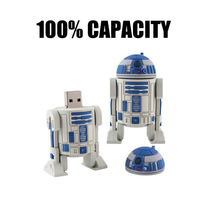 [해외]핫 판매 고속 스타 워즈 로봇 USB 플래시는 USB 2.0 드라이..