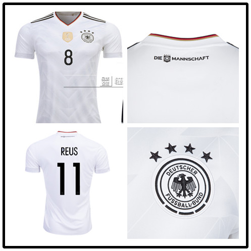 Top quality Germany 2017 Confederations Cup White soccer jerseys Deutsche home Cup Germany soccer jersey football jersey world(China (Mainland))