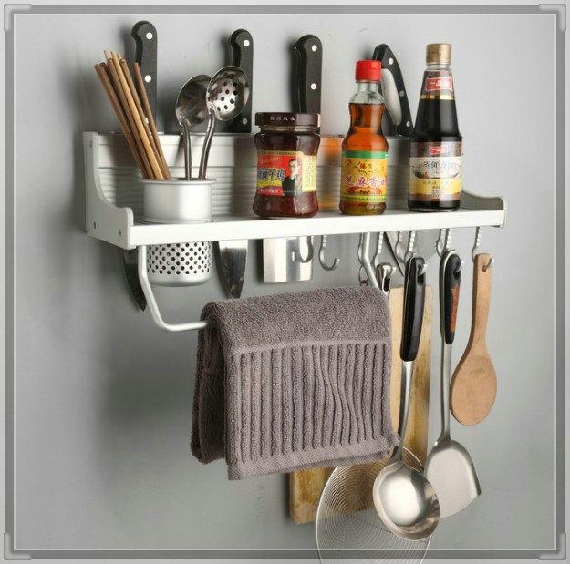 50cm Long Aluminum Kitchen Racks Kitchen Storage Shelf Single CUPs Dinnerware Shelf Holders Racks wash tub(China (Mainland))