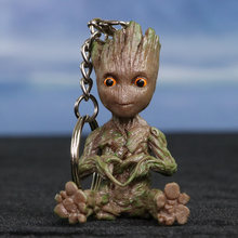 Marvel Guardians Of the Galaxy Vol. 2 Groot fantoches boneca Chaveiro mini Modelo cosbaby brinquedo encantador do bebê(China)