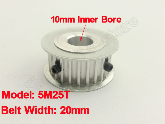 20mm Belt Width 5mm Pitch 5M 25 Tooth 10mm Bore Aluminum Synchronous Timing Belt Pulley<br><br>Aliexpress