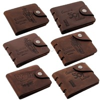 2014 Men's Leather Purse Classic Pockets Credit/ID Cards Holder Purse Wallet 6 Style Coffee Color 35