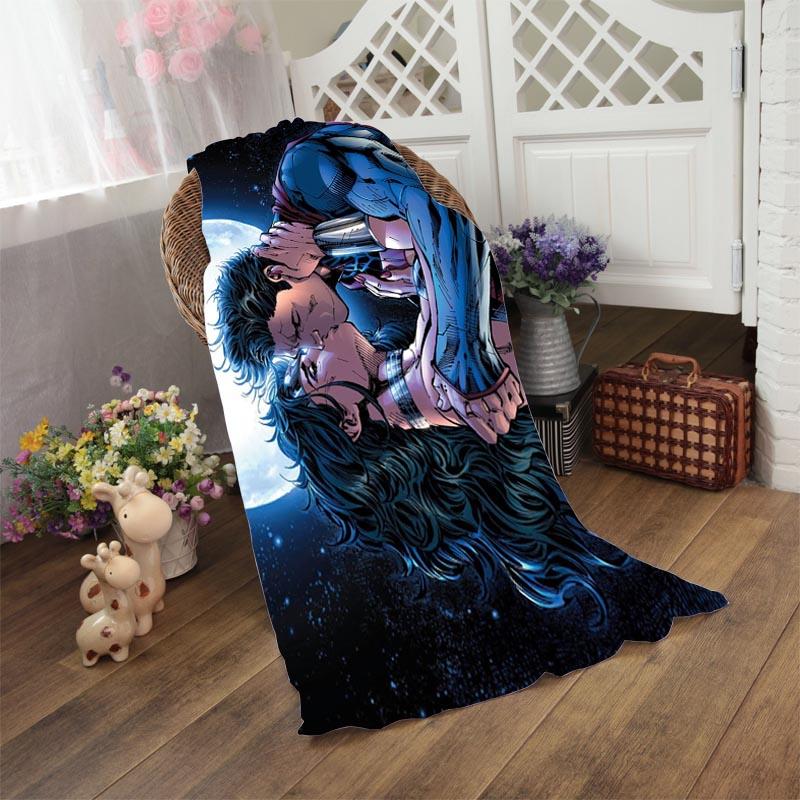 Superman Kissing Wonder Woman Bath Towel 50*100cm,70*140cm,70*150cm,80*160cm beach towels(China (Mainland))