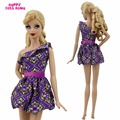 Morden Mannequin Costume Golden Quick Gown Dinner Get together Mini Robe Garments For Barbie Doll FR Kurhn 11.5 12 inch Toys Reward Youngsters Woman