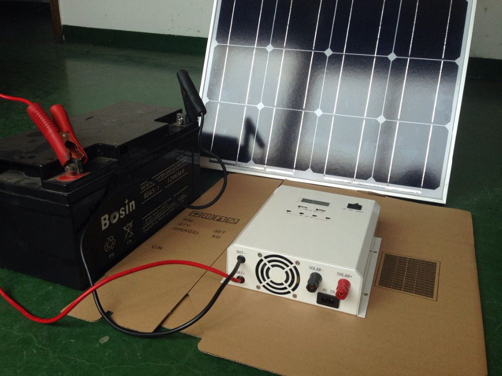 300W Solar Power System with Pure Sine Wave Output and Hybrid AC Charger for Home Lighting, Fan, and TV, Factory Direct Supply(China (Mainland))