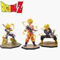 Free Shipping 3pcs set Dragon Ball Z Anime Super Saiyan Goku Son Vegeta Trunks Battle Version