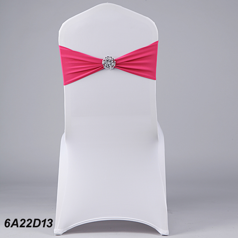 Spandex Sash Sashes Party Wedding Chair Bands With Crystal Buckle(China (Mainland))