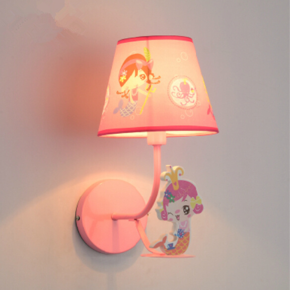 Cartoon lamp children bedroom wall lamps little boy girl lighting mermaid led E14 - Wendy's fashion home deco store