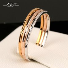 Vintage 3 Color Rounds Elegant Finger Rings 18K Rose Gold Plated Fashion Brand Punk Jewellery/Jewelry For Women Wholesale DFR029(China (Mainland))