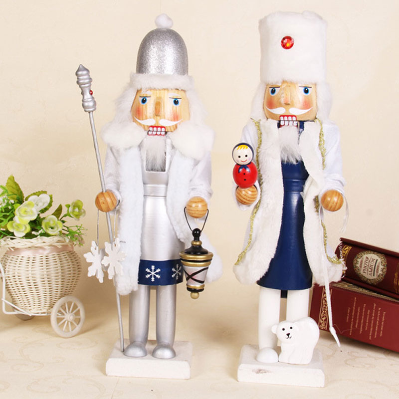 Christmas Decorations 2015 Wooden Nutcracker Soldiers Santa Claus Doll Best Gifts For The New Year Christmas Decoration Supplies(China (Mainland))