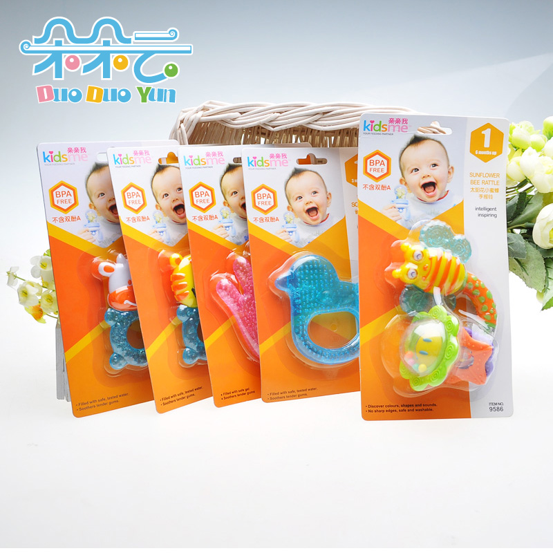 Baby teethers bees snail watermelon eva teether(China (Mainland))