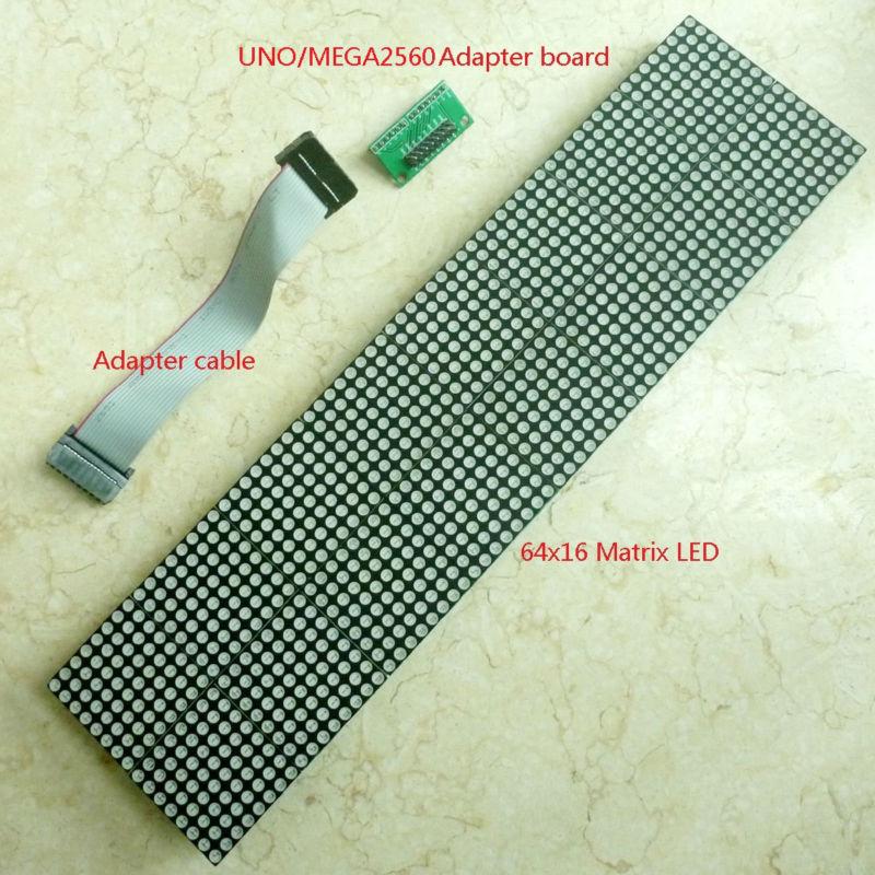 Wholesale-Provide UNO MEGA2560 code 64x16 dot Matrix LED for Arduino AVR  MCU diy Christmas Gifts Sign Light Neon Bright