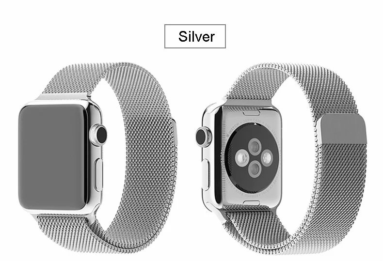 Luxury For Apple Watch Band Milanese Loop Magnetic Stainless Steel With Connector Adapter Original For iwatch Watchbands 38/42mm<br><br>Aliexpress
