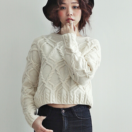 Petite Cable Knit Sweater - Gray Cardigan Sweater