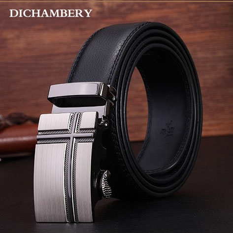 [Diniou] Luxury Brand New Cowskin Men Belt Automatic Metal Buckle Genuine Cow Leather Belt Business Cowhide Waist Strap DGM042(China (Mainland))