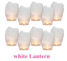 White Paper Chinese Lanterns Fire Sky Lanterns Wedding Candle Wish Lamp Birthday Wedding Lanterna Decorativa10pc Free Shipping(China (Mainland))