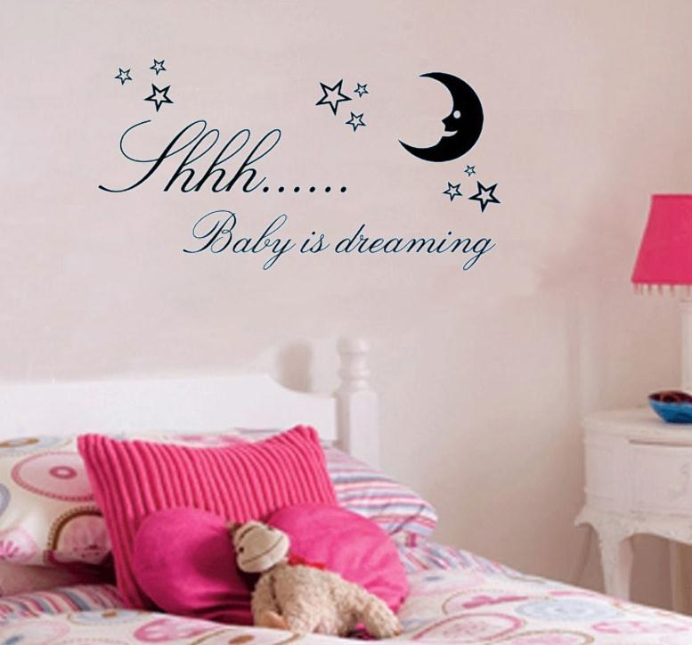 Baby is Dreaming vinyl wall quote for home(China (Mainland))
