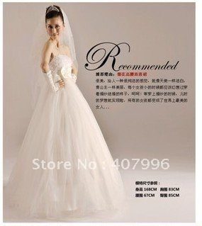 Free shipping New Arrival A-Line for Gravida, evening dress,Satin Floral Wedding Dresses Bridal Gowns