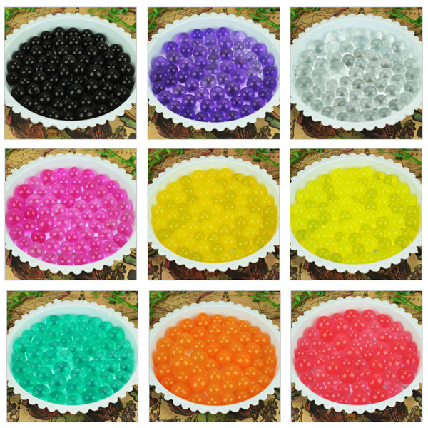 Soilless gardening New 12bag/lot, 1200 particles Crystal Mud Soil Water Beads Bio Gel Ball For Flower/Weeding(China (Mainland))