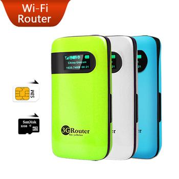 Mobile Device Portable Pocket Mini Wi-Fi Modem Support WCDMA HSPA Unlock Hotspot Wireless MiFi 3G WiFi Router with SIM Card Slot
