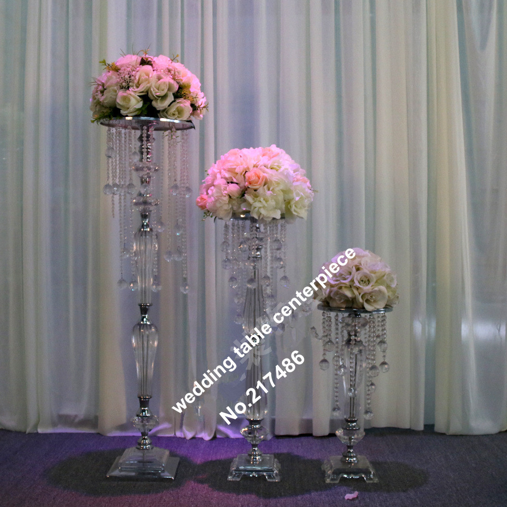 Only chandelier crystal table top wedding