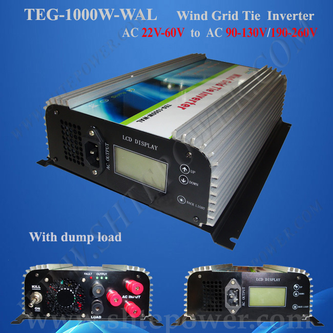 For 24v Wind Turbine AC 22-60v Input 1000W Grid Tie Power Inverter for Wind(China (Mainland))