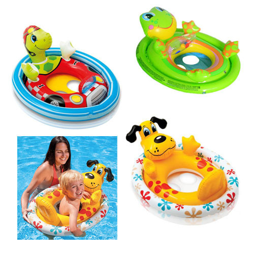baby seat ring baby swimming laps cartoon baby boat inflatable boat children kids swimming ring for girls boys(China (Mainland))