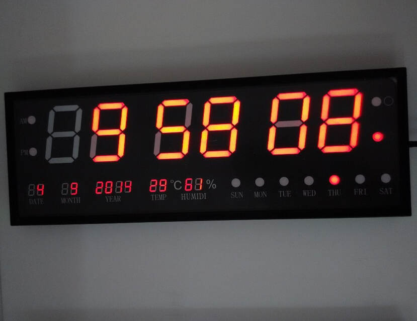 Diy Can Customized Led Wall Clock Large Size Digital Clock: digital led wall clock