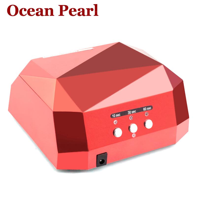 1006A-LED UV Lamp Nail Dryer Nail Lamp Diamond Shaped Long Life 36W LED CCFL Curing for UV Nail Gel Polish Nail Art Tools<br><br>Aliexpress