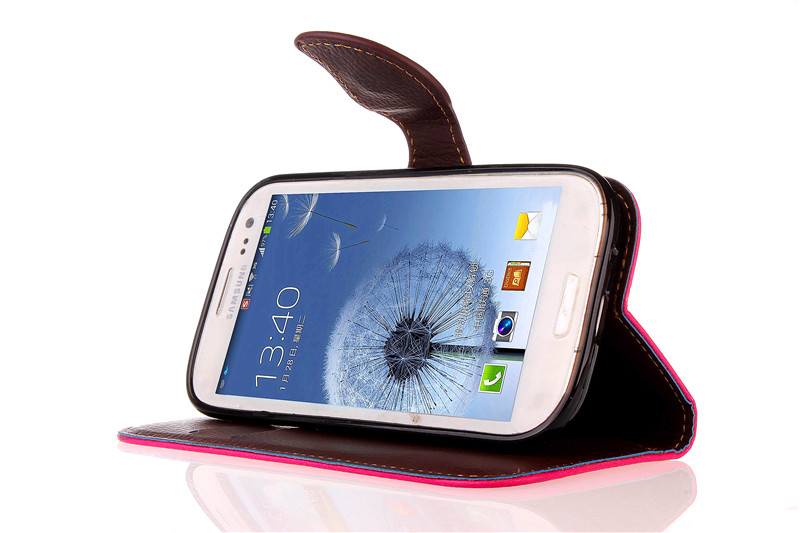 Case For Samsung S3 Cover Soft Silicone & Flip Leather Case For Samsung Galaxy S3 GT-i9300 9300 S3 Fundas Card Slot Phone Shell