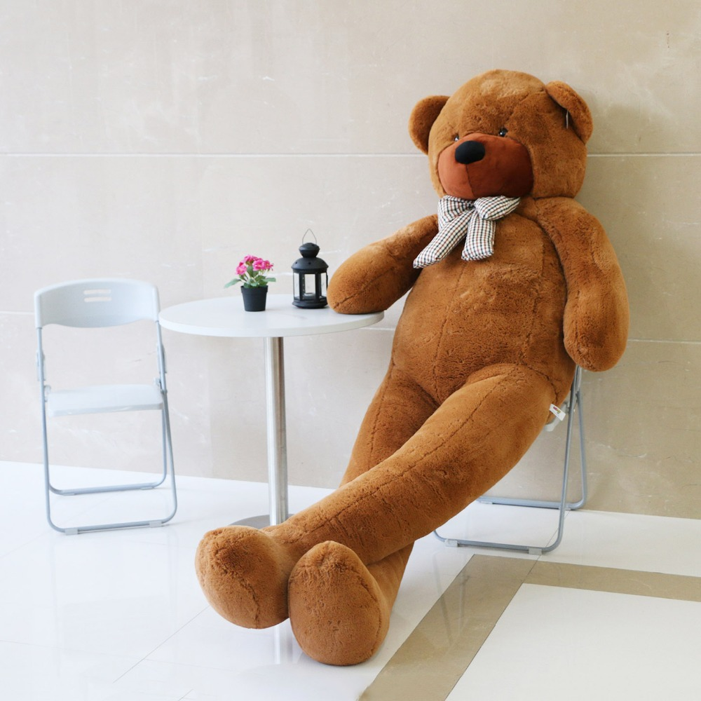 JOYFAY Giant Soft 91'' 230 cm Brown Teddy Bear Stuffed Plush Animals Soft Toy Best Gift For Birthday Valentine Anniversary(China (Mainland))