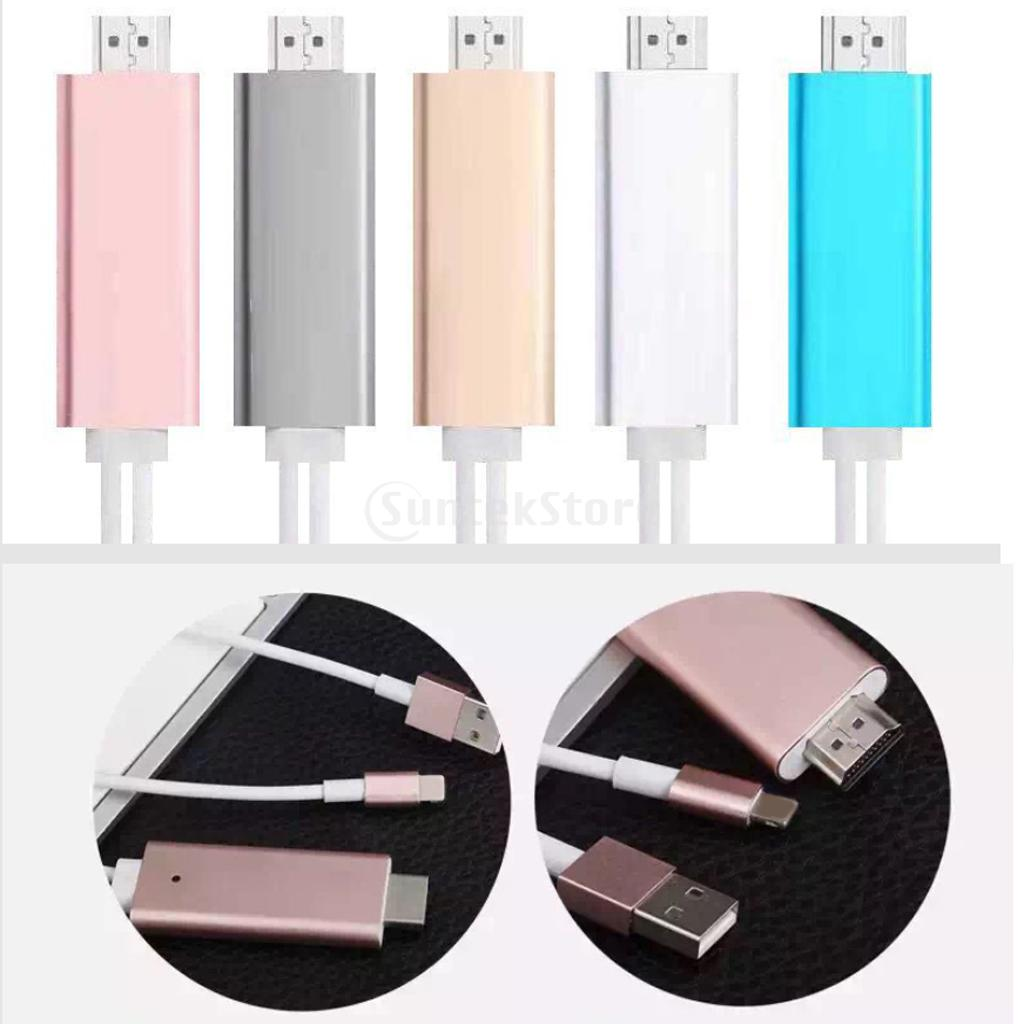 Output 1080P Converter HDTV HDMI AV Cable Adapter for iPhone 5/5s/5c/SE/6/6 plus/6s/6s plus Large Screen Reflection(China (Mainland))