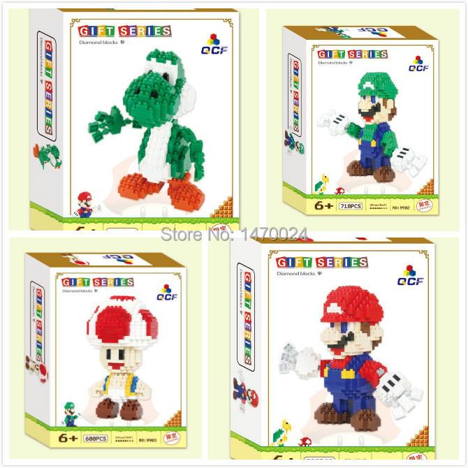 2015 New Arrive Mini Qute QCF 3D game super mario Toad diamond nano plastic model building block nanoblock kid educational toy(China (Mainland))