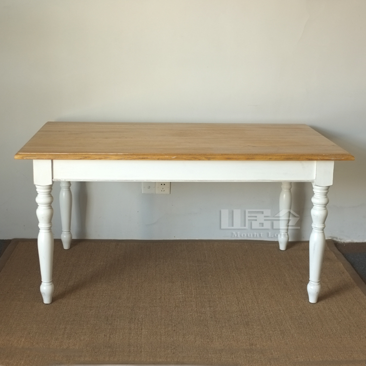 French American Country Style Dining Table To Do The Old Retro White Poplar E