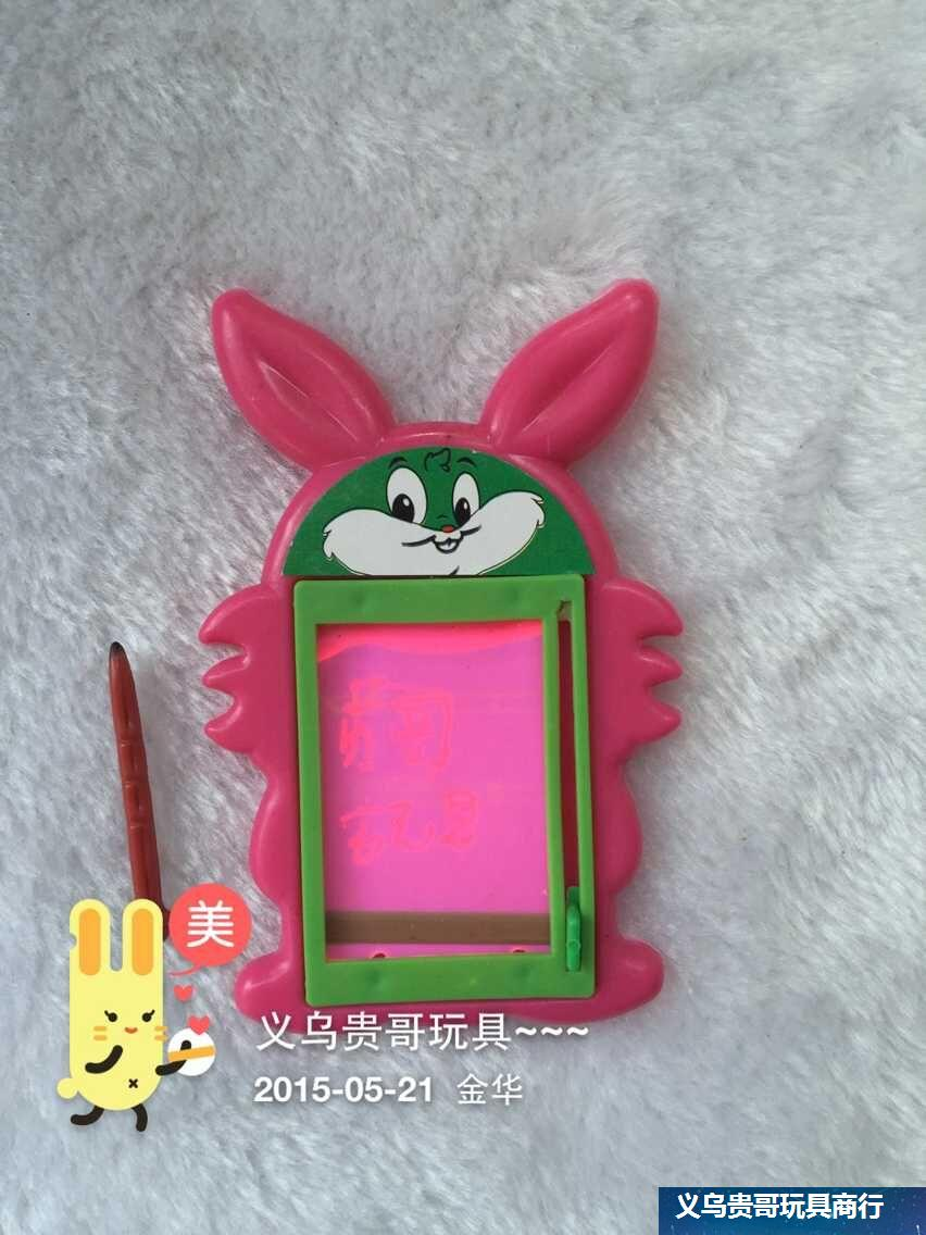 Multi Function Pen Creative memo pad TOYS note plate Can be reused erase cartoon Rabbit message book Z864(China (Mainland))