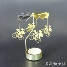 ללכת סיבוב פמוטים מסתובב רומנטי מסתובב קרוסלה תה אור נר מחזיק חג המולד דקור תאורה ינשוף חתול איל עץ(China)