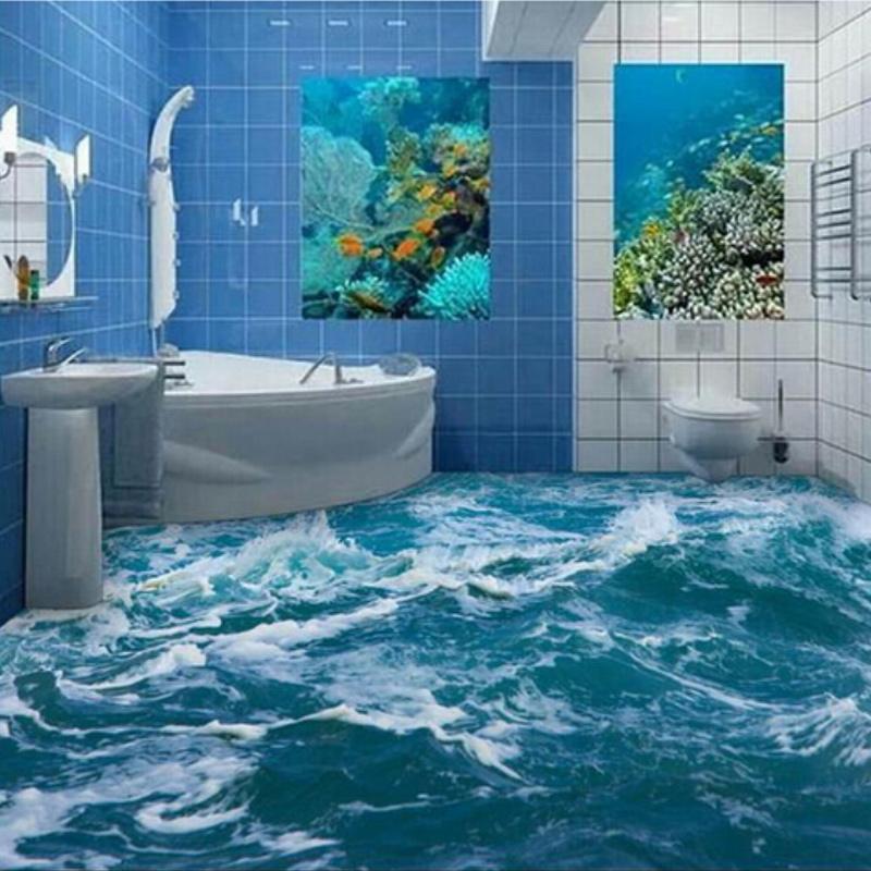 custom mural 3d ocean floor mural pvc self adhesive