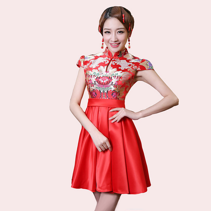 Bride Wedding Qipao Red