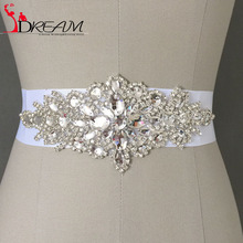 In Stock font b Wedding b font font b dress b font Waistband Floral Crystal Rhinestone