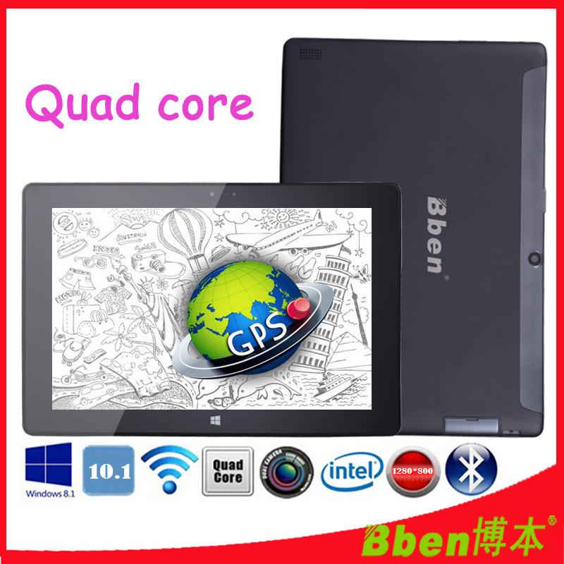 Free shipping ! Super thin 10.1 inch windows mini laptop dual camera quad core intel z3735d windows 8.1 tablet pc 3G GPS WIFI(China (Mainland))