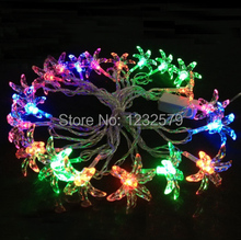 Six leaf grass 20 LED 4M String Fairy Lights RGB Lamp for Holiday Christmas Xmas Party Wedding Bedroom Garden Decoration(China (Mainland))