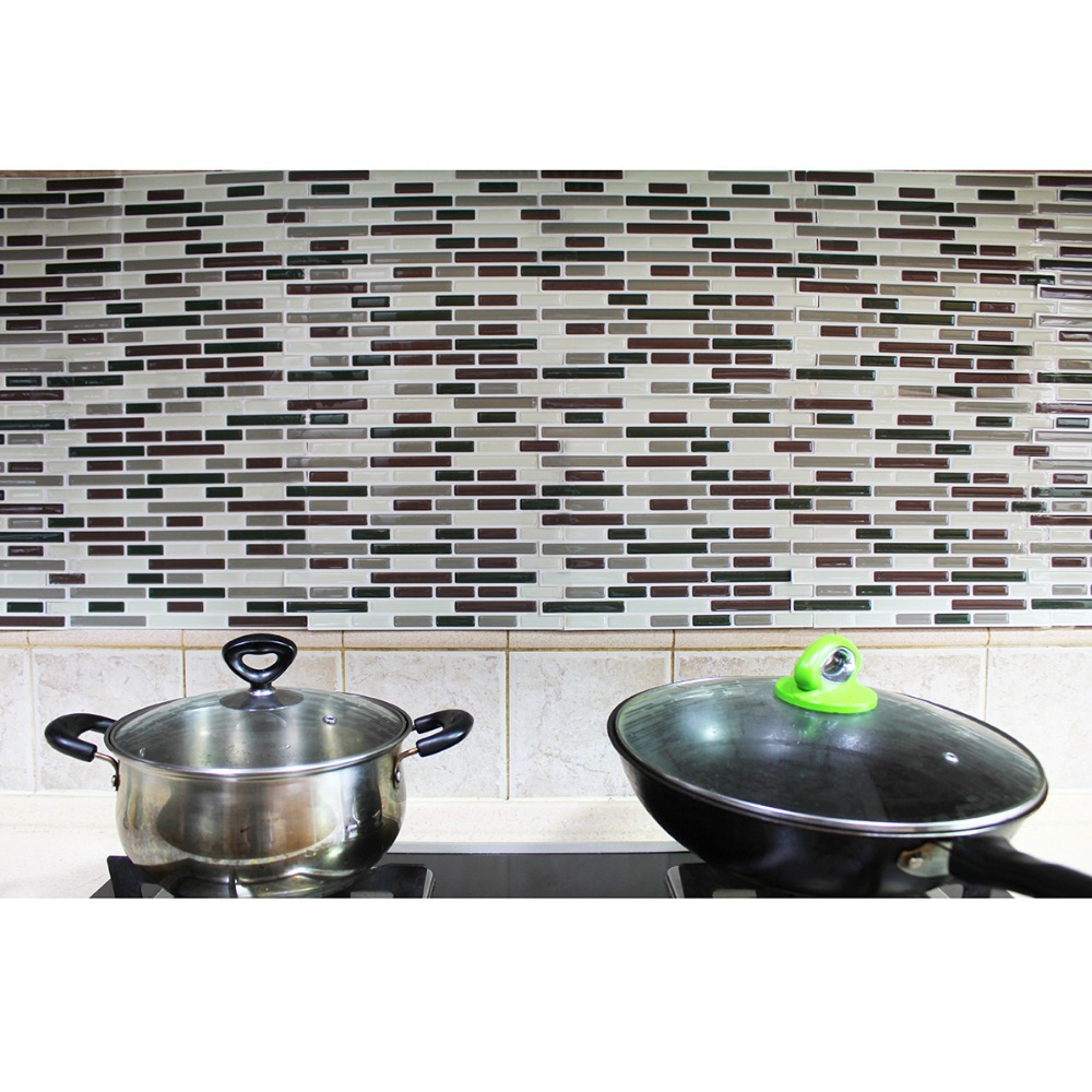 Hand painted subway tile