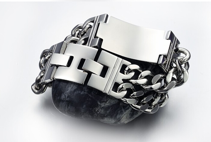 stainless steel men bracelets bangles silicone bands rubber link chain kors bracelet wristband cuff power balance - Brand Fine Jewelry store