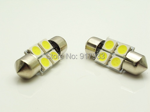100pcs wholesale Car Interior 31mm White 5050 SMD 4 LED iFestoon Dome Map Light instrument Bulb 12V reading light door light(China (Mainland))