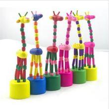 2014 New BL Eco-Friendly Baby Kids Wooden FigureToys Developmental Dancing Standing Rocking Giraffe Gift Toys LB(China (Mainland))
