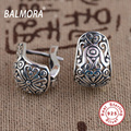 Retro Earrings 100 Real 925 Sterling Silver Jewelry Clip Earrings for Women Party Gifts Bijoux Thai