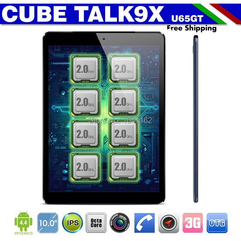 Cube Talk 9X U65GT MT8392 Octa Core 2.0GHz Tablet PC 9.7 inch 3G Phone Call 2048x1536 IPS 8.0MP Camera 2GB/32GB Android 4.4(China (Mainland))