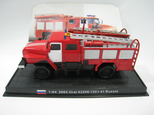 1:64 2004 Russia 43206-1551-41 Alloy Fire Truck Model Toy Free shipping(China (Mainland))